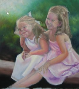 melbourne family portrait painting in stages